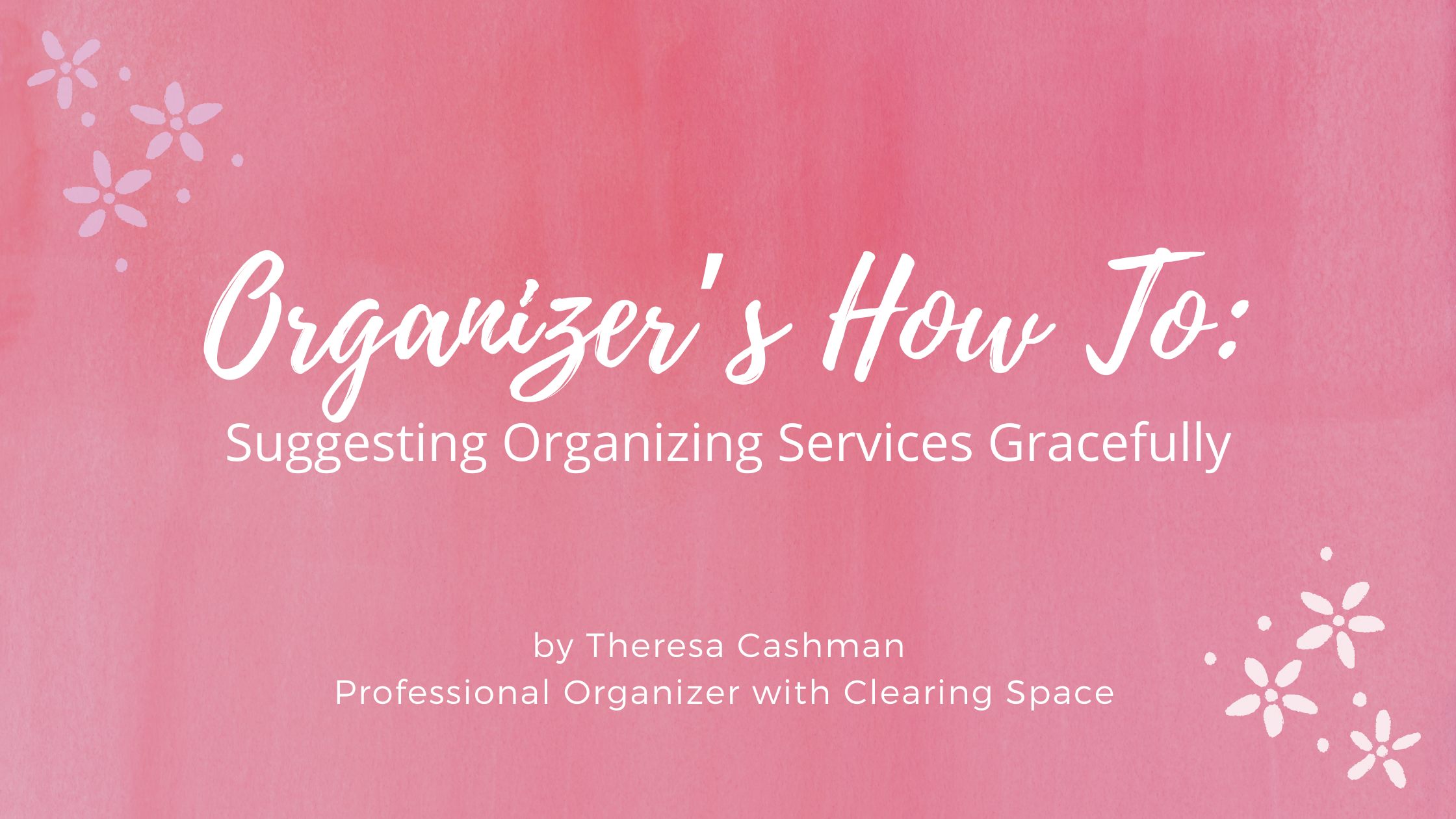organizers how to suggest services